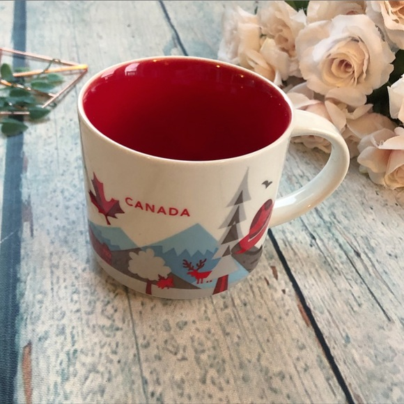 Starbucks 2017 Canada mug coffee cup red blue here